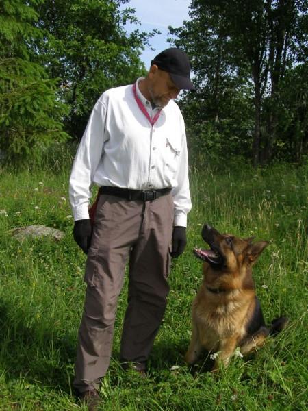 Автор с немецкой овчаркой - Эриком