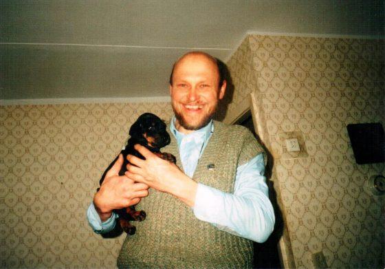 За исправленную агрессию к членам семьи у суки-добермана Сорбоны, я получил в подарок щенка