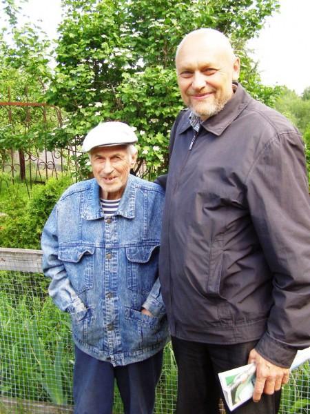 Автор с ветераном охотоведения Николаем Николаевичем Соломиным