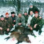Наша охотничья компания у добычи