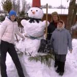 С Новым годом, снеговик