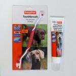Зубная щетка и зубная паста для собак