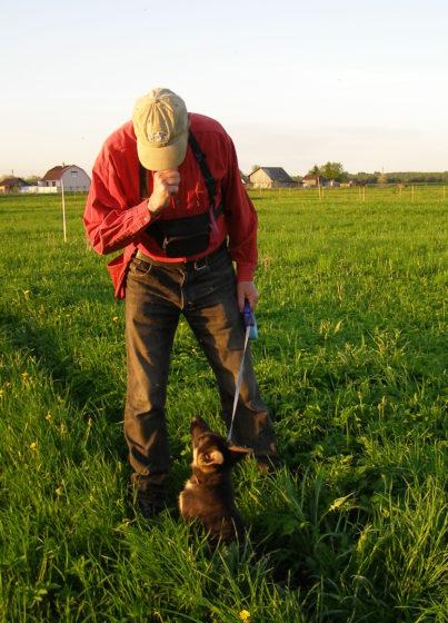 С немецкой овчаркой Риксоном