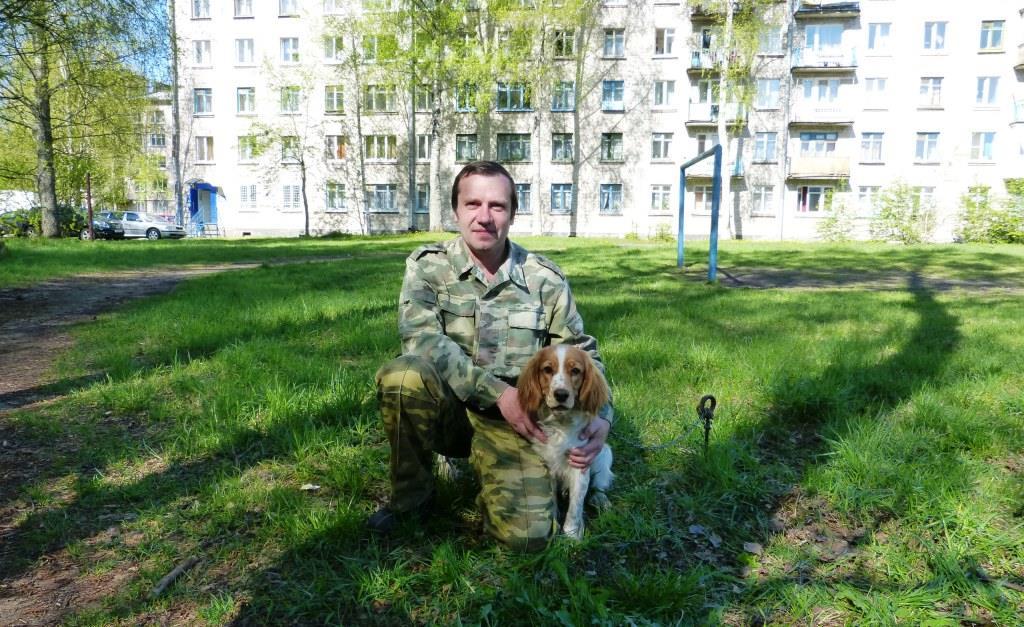 Михаил Львович и его помощник на охоте