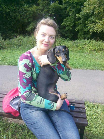 Людмила Никель со своим питомцем Фиксом